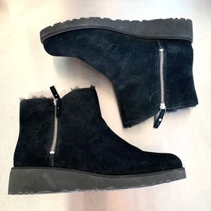 Ugg Black Classic Mini double zip boots booties 12